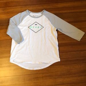 Under Armour girl's cropped sleeve tee